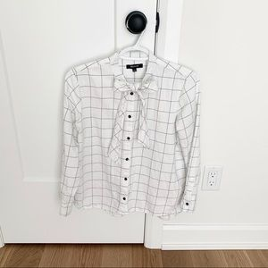 Madewell Knotted Flannel Top